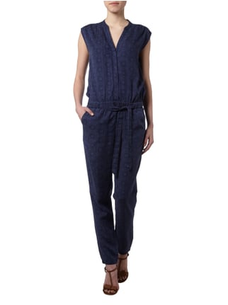 Esprit Jumpsuit mit Inside-Out-Muster in Blau / Türkis - 1