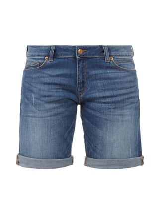 Stone Washed 5-Pocket-Jeansshorts Blau / Türkis - 1