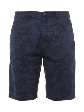 Tapered Fit Shorts mit Allover-Muster Blau / Türkis - 1