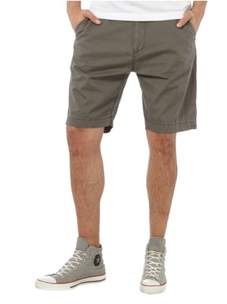 Esprit Tapered Fit Shorts mit Allover-Muster Mittelgrau - 1