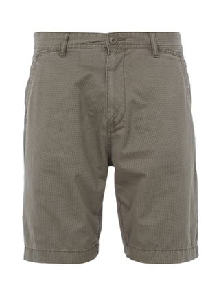 Tapered Fit Shorts mit Allover-Muster Grau / Schwarz - 1
