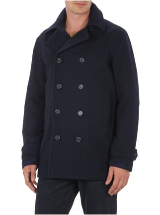 Fred Perry Caban-Jacke aus robuster Wollmischung Marineblau - 1