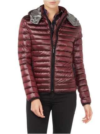 Frieda & Freddies Light-Daunen Steppjacke mit abnehmbarer Kapuze Bordeaux Rot - 1