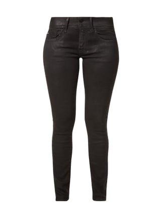 Coated Skinny Fit Jeans Grau / Schwarz - 1