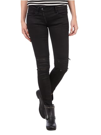G-Star Raw Coloured Skinny Fit Jeans im Biker-Look Schwarz - 1