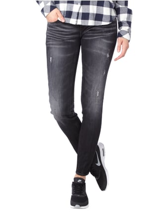 G-Star Raw Skinny Fit Jeans im Destroyed Look Dunkelgrau - 1