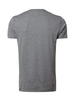 G-Star Raw T-Shirt in Melangeoptik mit Logo-Stickerei Mittelgrau meliert - 1