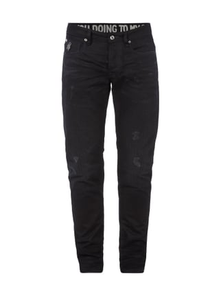 Used Look Slim Fit Jeans Grau / Schwarz - 1