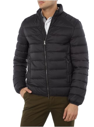 Paul Rosen Men Light-Daunenjacke mit Steppnähten Schwarz - 1