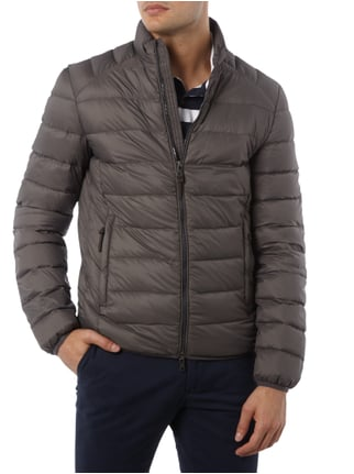 Paul Rosen Men Light-Daunenjacke mit Steppnähten Stein - 1