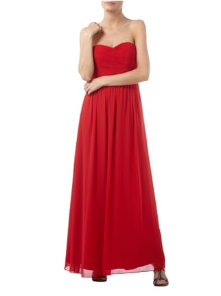Jake*s Cocktail Abendkleid aus Chiffon mit Schnürung in Rot - 1