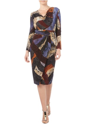 Just Cavalli Kleid mit Schlangenmuster in Lila - 1