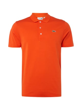 Poloshirt mit Logo-Badge Orange - 1
