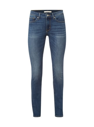 Skinny Fit Stone Washed Jeans Blau / Türkis - 1