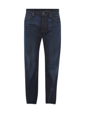 Stone Washed Straight Cut 5-Pocket-Jeans Blau / Türkis - 1