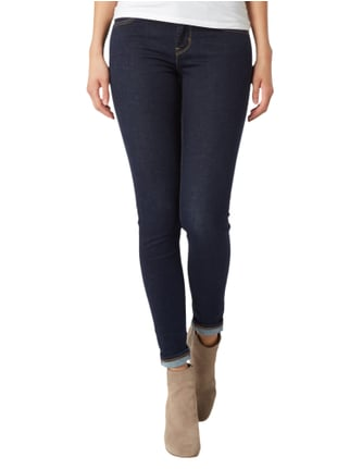 Levi's® One Washed Super Skinny Fit Jeans Dunkelblau meliert - 1