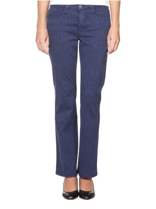 MAC 5-Pocket-Jeans mit All-Over-Muster Blau - 1