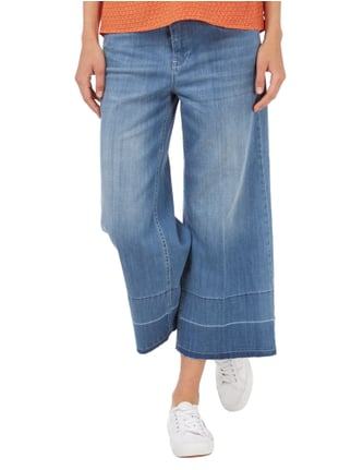MAC Stone Washed Jeansculotte Jeans meliert - 1