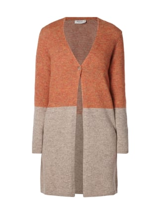 Longcardigan in Two-Tone-Machart Orange - 1