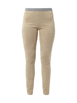 Leggings in Velourslederoptik Weiß - 1
