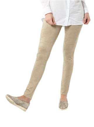 Marc Cain Collections Leggings in Velourslederoptik Sand - 1