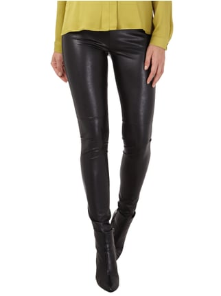 Marc Cain Sports Leggings mit Rippenbund Schwarz - 1