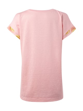 Marc Cain Collections T-Shirt mit Zitronenmuster Pink - 1