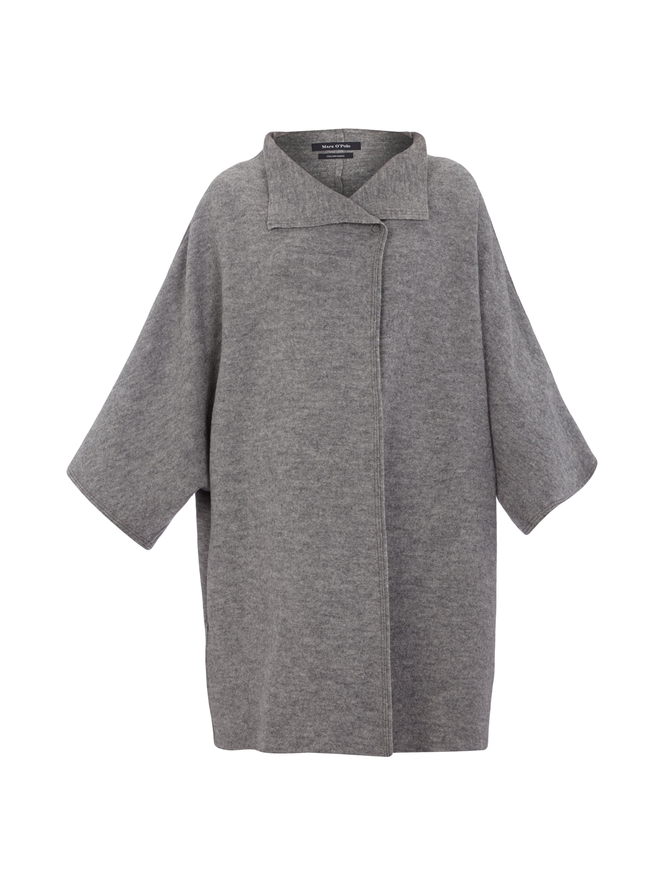 Marc o polo oversize mantel aus reiner wolle in grau for Oversize mantel damen