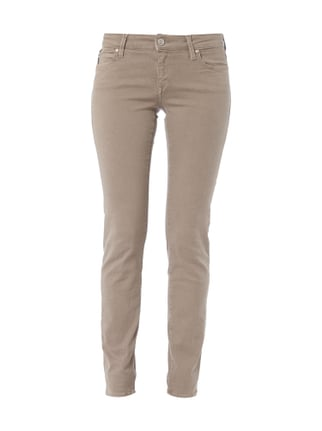 Slim Skinny Jeans aus Coloured Denim Braun - 1