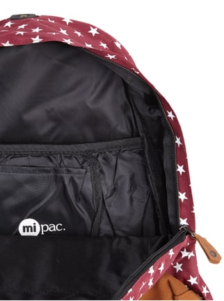 Mi-Pac Rucksack mit Sternenmuster Bordeaux Rot - 1