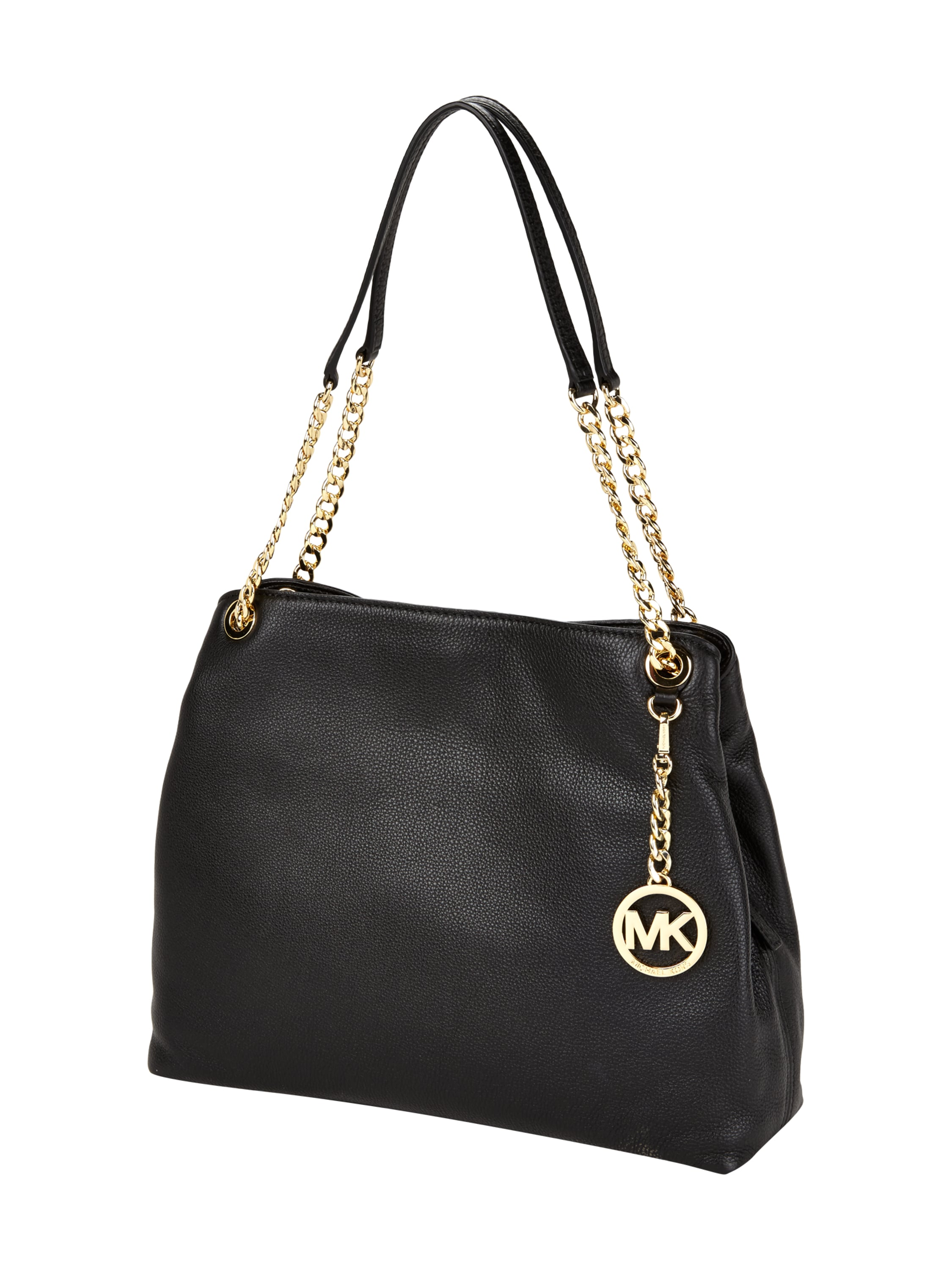 michael michael kors handtasche aus echtem leder mit. Black Bedroom Furniture Sets. Home Design Ideas