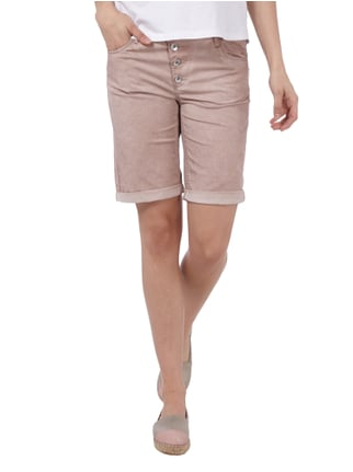 Montego Bermudas im Washed Out-Look Altrosa - 1