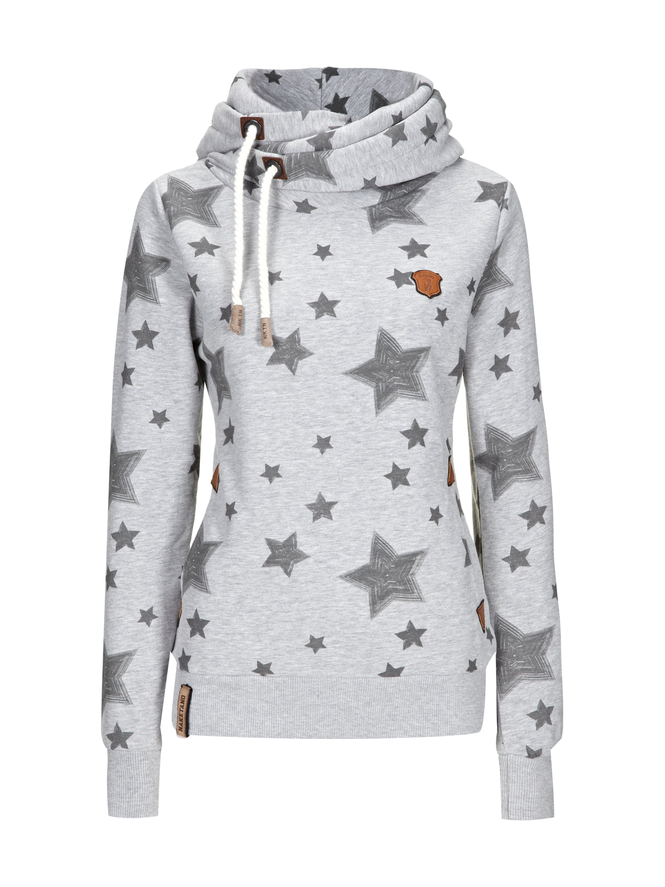 naketano hoodie mit sterne print in grau schwarz online kaufen 9035194 fashion id online shop. Black Bedroom Furniture Sets. Home Design Ideas