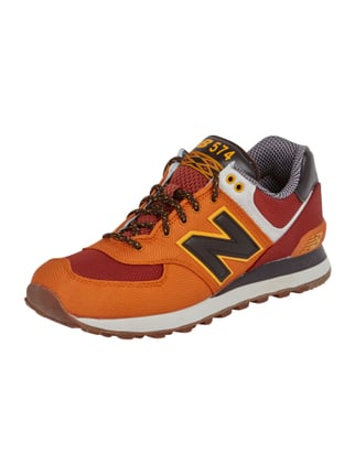 Sneaker mit Logo-Applikation Orange - 1