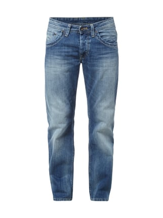 Regular Fit 5-Pocket-Jeans im Stone Washed-Look Blau / Türkis - 1