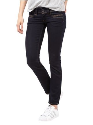 Pepe Jeans Rinsed Washed Straight Cut Jeans Anthrazit - 1