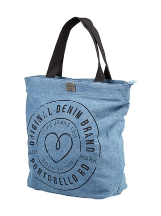 Shopper aus Denim Blau / Türkis - 1