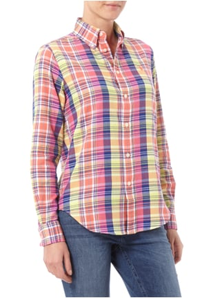 Polo Ralph Lauren Relaxed Fit Flanellbluse mit Tartanmuster Gelb - 1