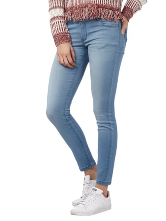 REVIEW Minnie Skinny Jeans im Stone Washed-Look Hellblau - 1