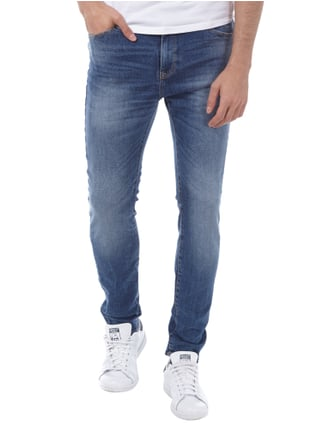 REVIEW Stone Washed Skinny Jeans Blau - 1