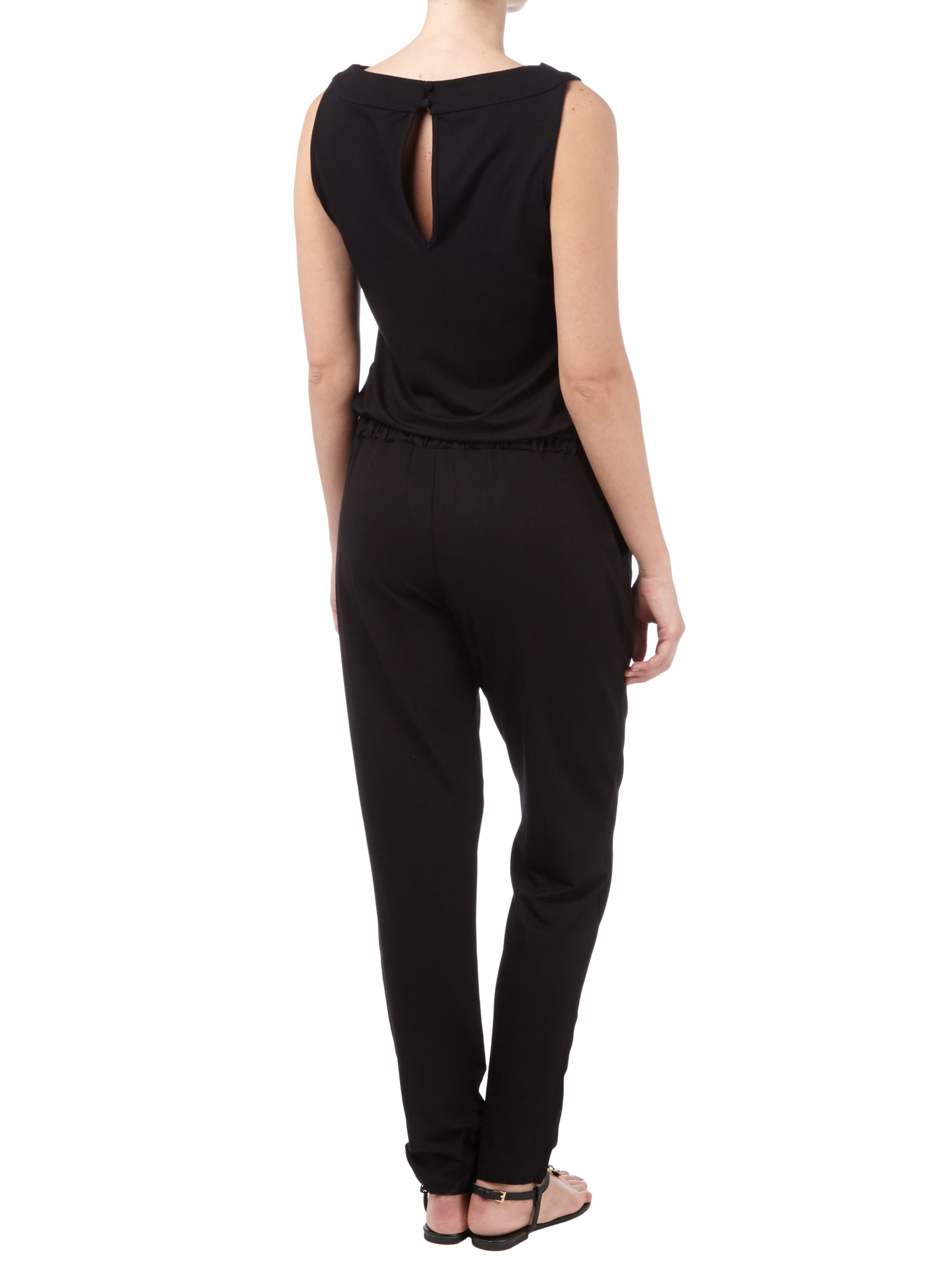 s oliver premium jumpsuit aus slub jersey mit raffungen in. Black Bedroom Furniture Sets. Home Design Ideas