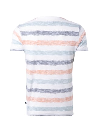 s.Oliver Denim T-Shirt mit Inside-Out-Streifenmuster Apricot - 1