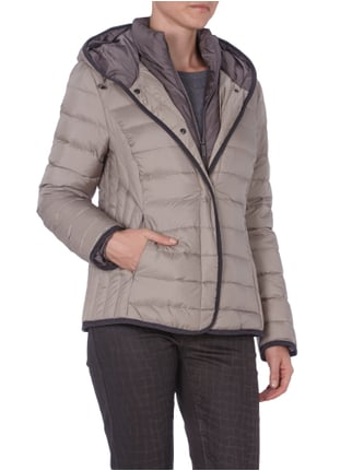 s.Oliver Lightdaunen Steppjacke in Two-in-One Optik Taupe - 1