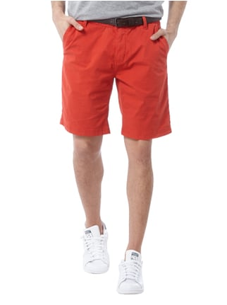 s.Oliver Loose Fit Chinoshorts mit Gürtel Rot - 1