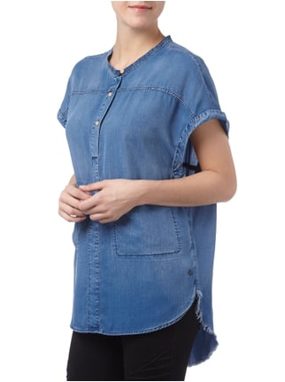 Maison Scotch Oversized Bluse in Jeansoptik Jeans - 1