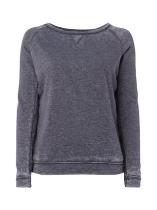 Sweatshirt im Washed Out-Look Grau / Schwarz - 1