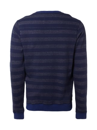 Scotch & Soda Sweatshirt mit Flockprint im Vintage Look Marineblau - 1