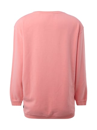 Maison Scotch Sweatshirt mit Message aus Flockprint Pink - 1