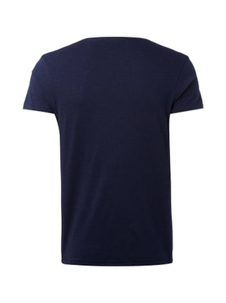 Scotch & Soda T-Shirt mit Flock-Print Marineblau - 1