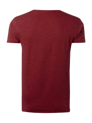 Scotch & Soda T-Shirt mit Flock-Print Rot meliert - 1